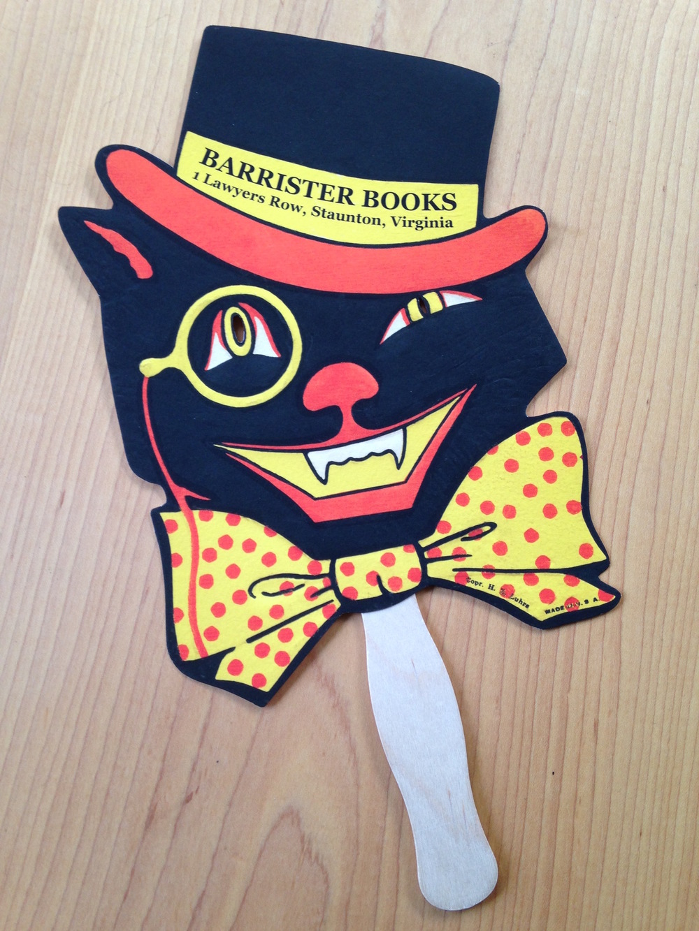 Barrister Books Halloween Mask, 2015