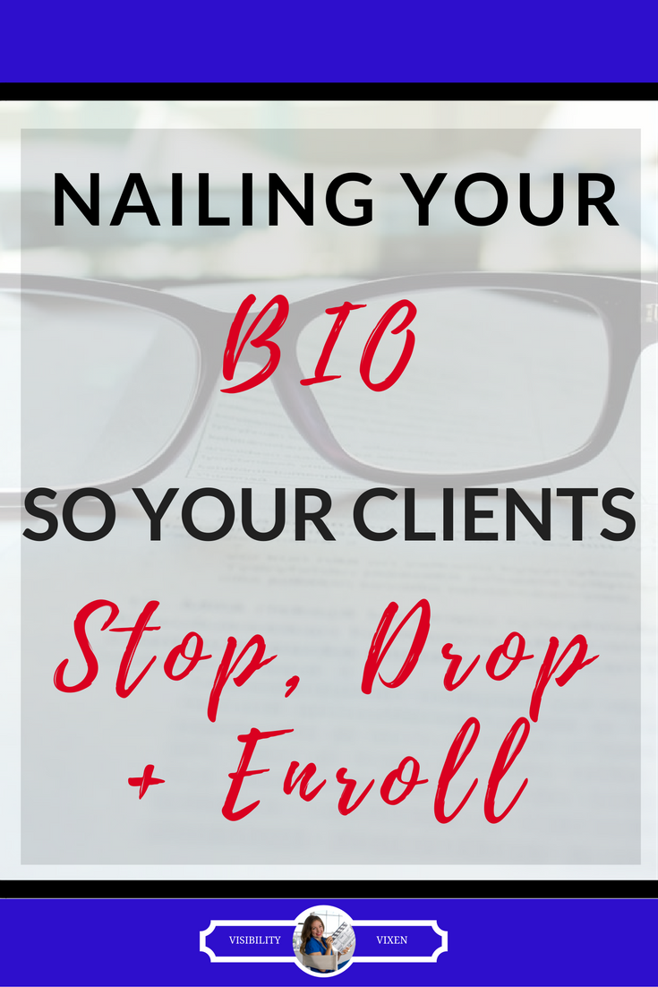 The perfect outline for creating a knockout bio!!! Make a lasting first impression!