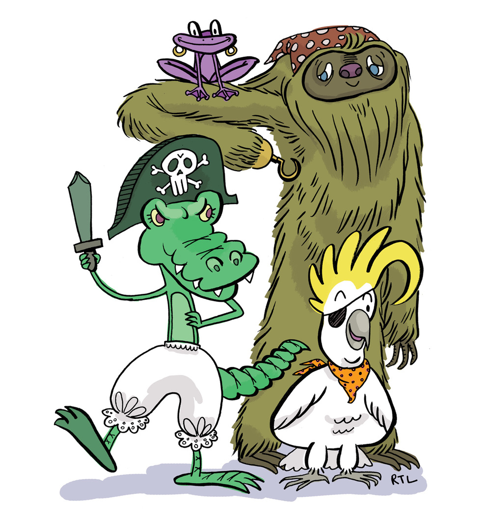 The Burly Pirate Crew