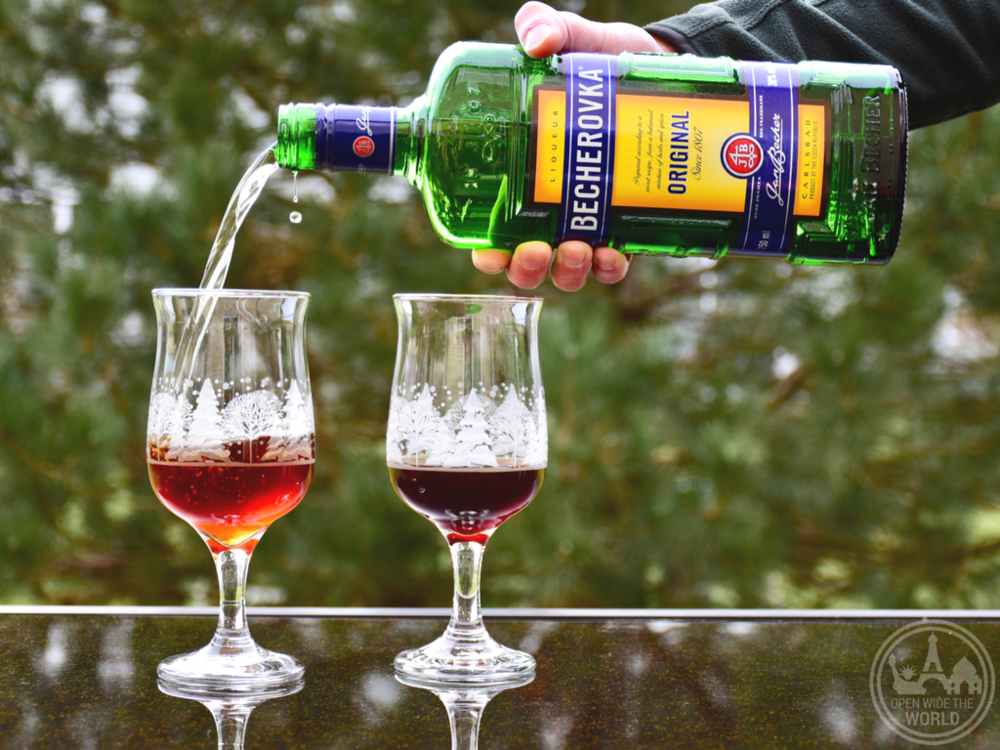 Coffee with Becherovka. If you find yourself at home this holiday season, why not bring the festive travel spirit to you! (And learn a little history while you're at it!) We have compiled recipes of five  more  fabulous holiday cocktails from around the world. So grab a shaker and join the party!