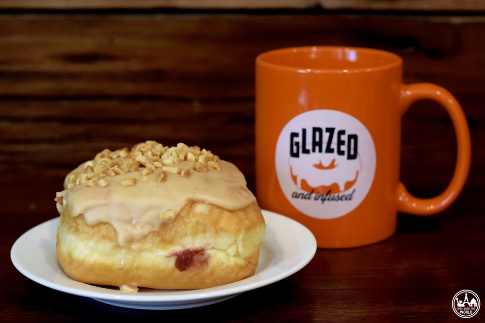 PB&J donut from the former Glazed & Infused