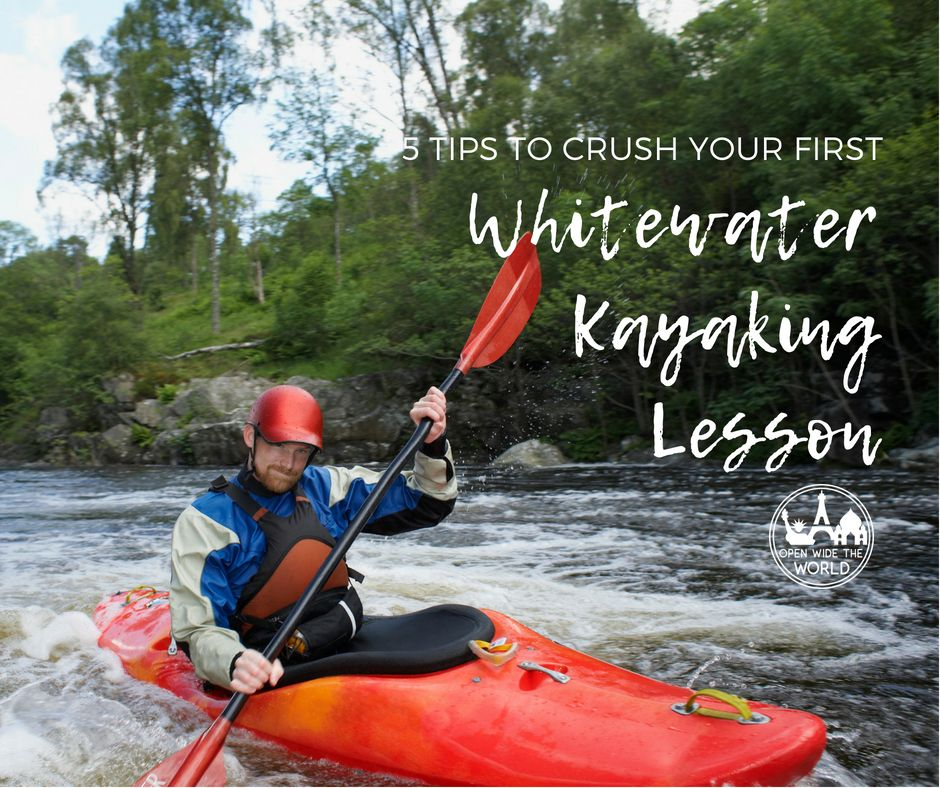 Whitewater kayaking is an extremely challenging sport for beginners. But it can be even more rewarding, if you're mentally and physically prepared. Check out our tips to make the most of beginner's lessons in whitewater kayaking!
