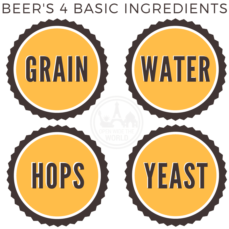 beer's 4 basic ingredients