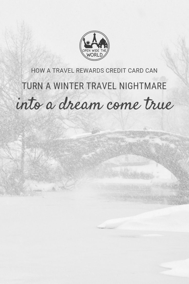 A common fear of travelers planning a trip during the winter season is the possibility of being stranded at their travel destinations. Rightfully so, as there is definite risk in visiting certain destinations during winter months. But with every risk comes the possibility of reward, even in winter travel. See how travel credit cards and rewards gave us a winter weekend we'll never forget!
