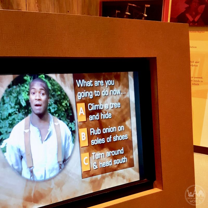 The National Underground Railroad Freedom Center in Cincinnati offers interactive elements for learning about the history of slavery on the North American continent. Check out our guide to this amazing Underground Railroad museum. #undergroundrailroad #freedomcenter #cincinnati #openwidetheworld