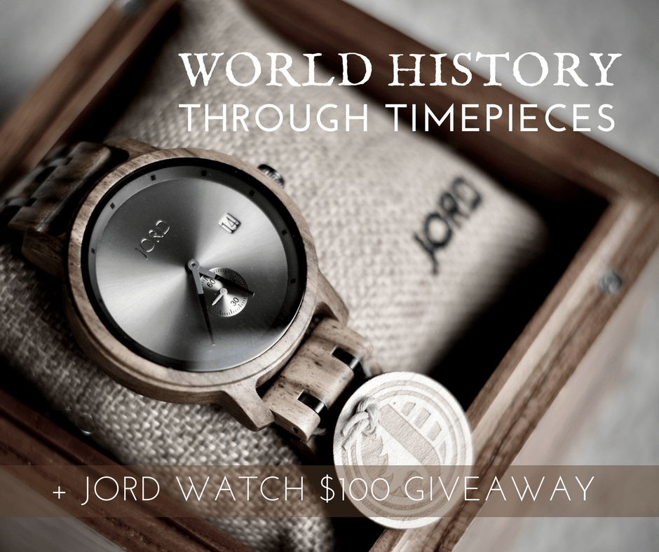 Today, we share a brief history of how the watch came to be, plus offering a giveaway for $100 toward a JORD watch. We love JORD's cool, minimalist wooden watches for him and her. And we think you will, too!