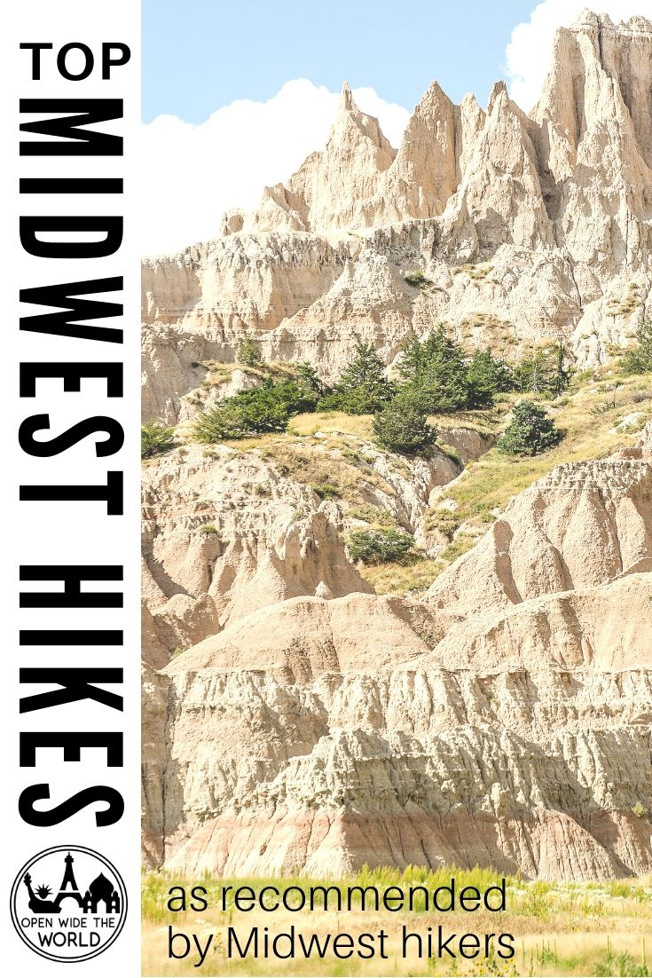 The best hikes in the Midwest! Top day hikes, and even a through-hike, in the Midwestern United States. Trails for hiking families, hard core hikers and solo hikers. All recommended by Midwest hikers! #midwesthiking #openwidetheworld