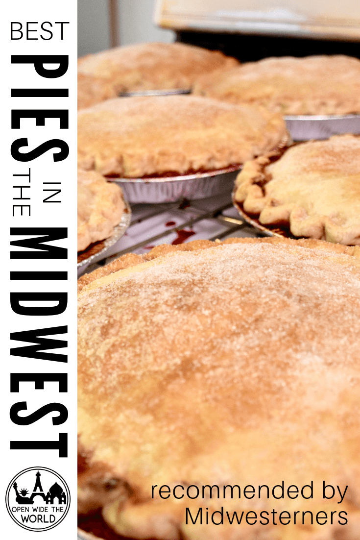 Do you love pie? Are you heading to the Midwest? The #MidwestMondayChat on twitter comes through again —this time, with great pie recommendations from all around the Midwest!  We looked over all the tweets, from travelers, bakers, and general pie eaters, and chose our favorite pie from each of the 12 Midwestern states. Check out our top choices for the best pies in the Midwest! #pie #OpenWideTheWorld