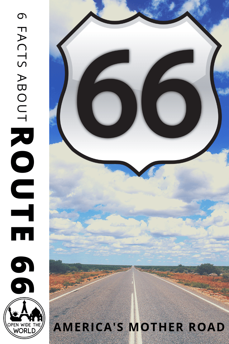 "Route 66, ""America's Mother Road,"" celebrates its birthday in November. Check out a few fun facts about the first 90 years along ""America's Main Street!"" #route66 #openwidetheworld"
