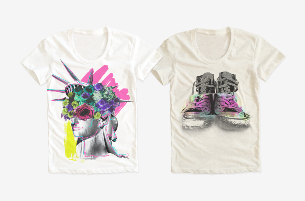 CONVERSE / Womens t-shirt graphics