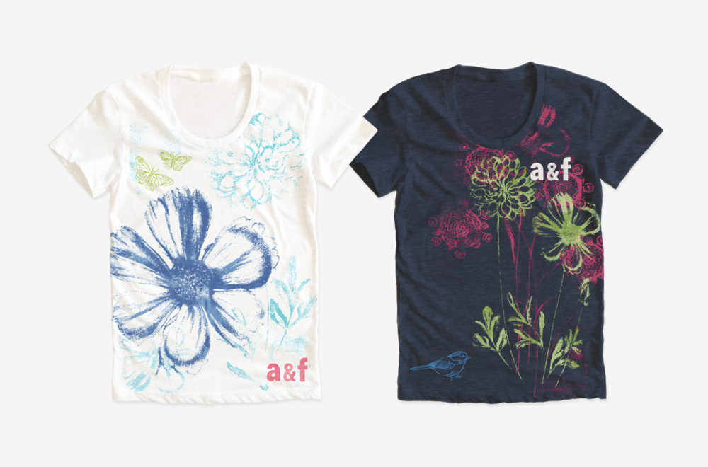 ABERCROMBIE KIDS / Girls t-shirt graphics