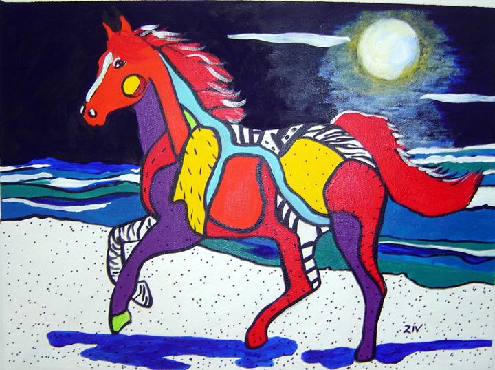f Horse I - Midnight Frolick 16x12.jpg