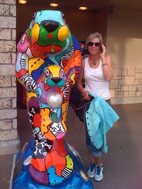 finished manatee in front of milams market with marcie.jpg