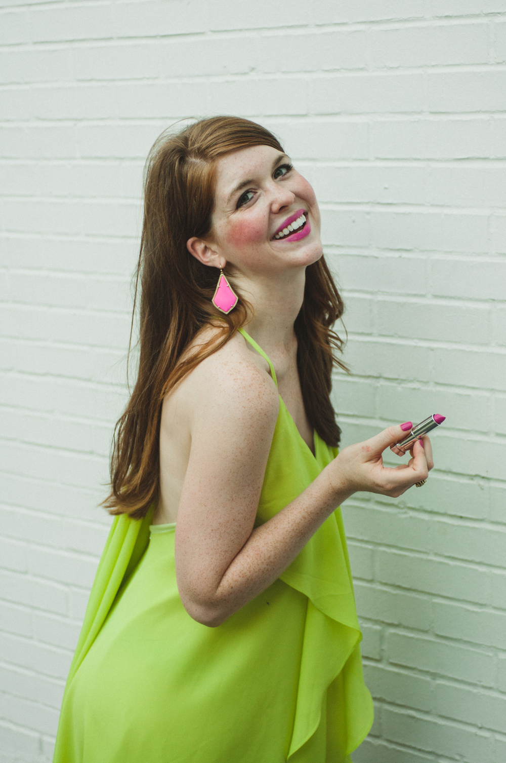 Green Dress, Pink Accents, Balloons, Party, Birthday | Southern Elle Style | Dallas Fashion Blogger