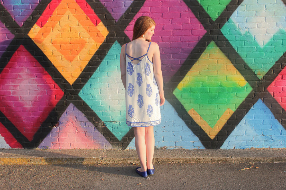 Blue and White Floral Dress | Southern Elle Style | Dallas Fashion Blogger