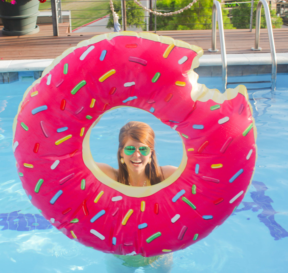 American Apparel Swimsuit and Donut Floatie | Southern Elle Style | Dallas Fashion Blogger
