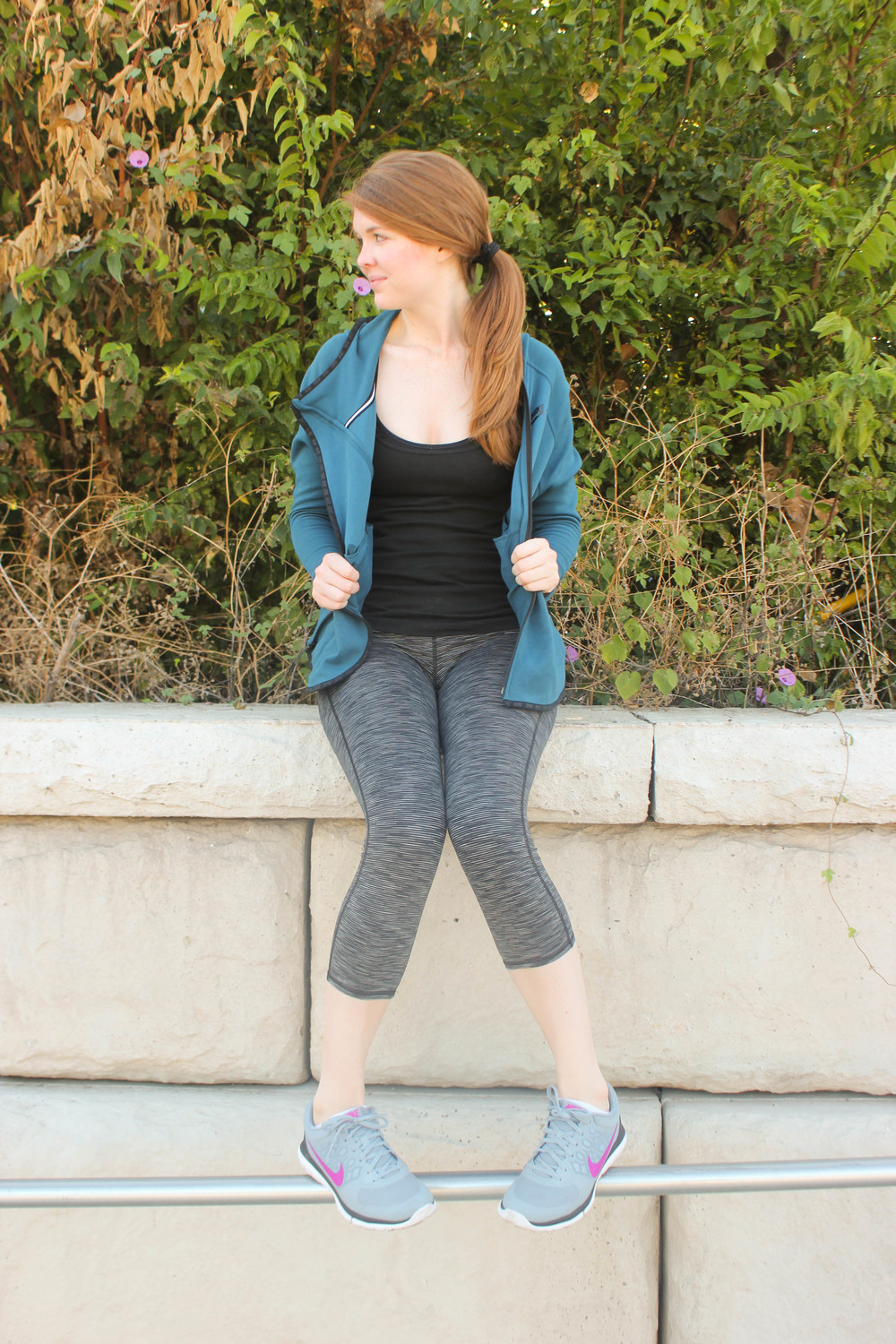 Nike Jacket, Athleta Tights | Southern Elle Style | Dallas Fashion Blogger