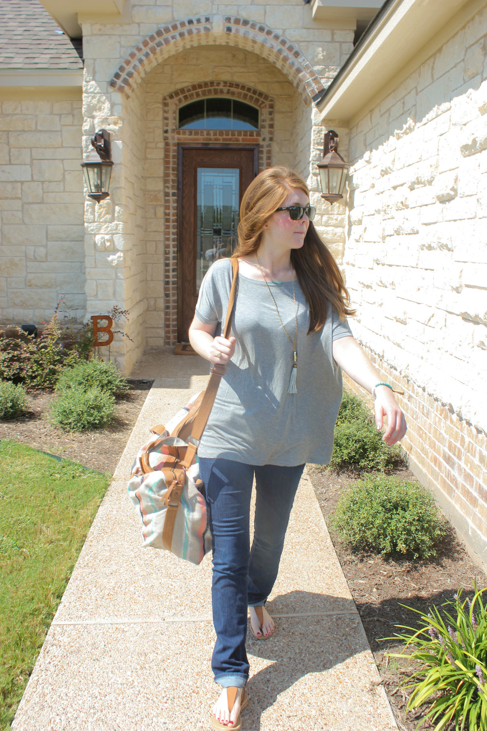piko top, anthropologie bag, j brand jeans