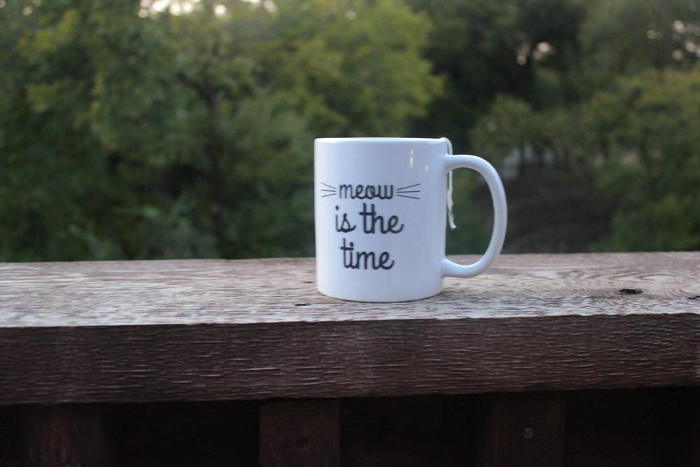 meow is the time mug
