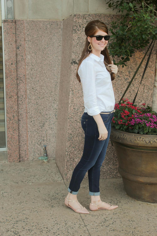 DL Emma Legging Jean in Albany, Halogen rockstud flat