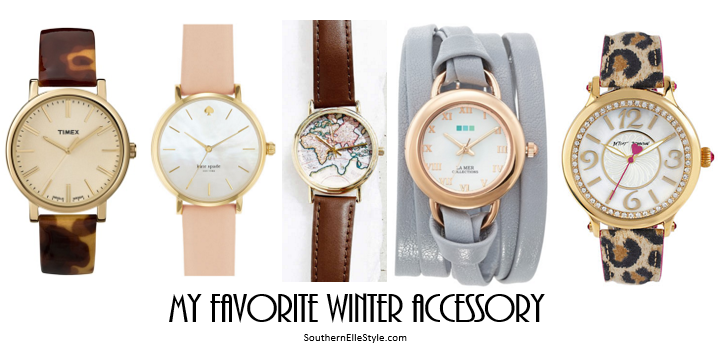 timex, kate spade watch, UO watch, La Mer Watch, Betsey Johnson Watch