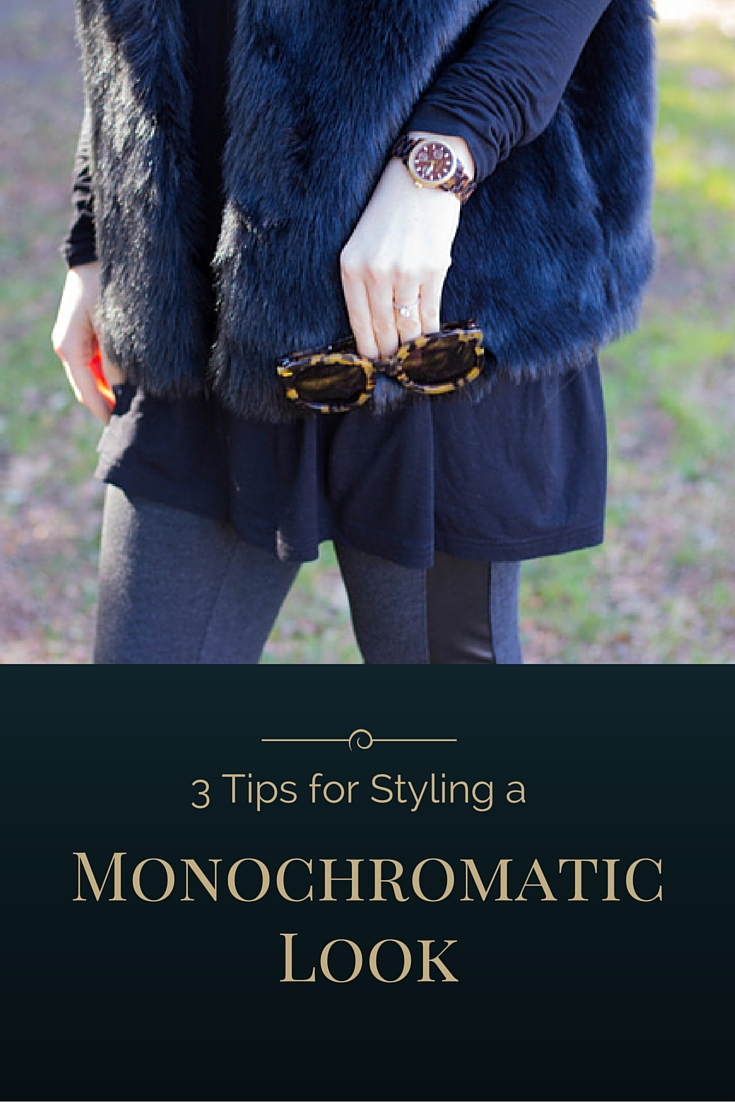 how to style a monochromatic look, black, lbd, karen walker sunglasses