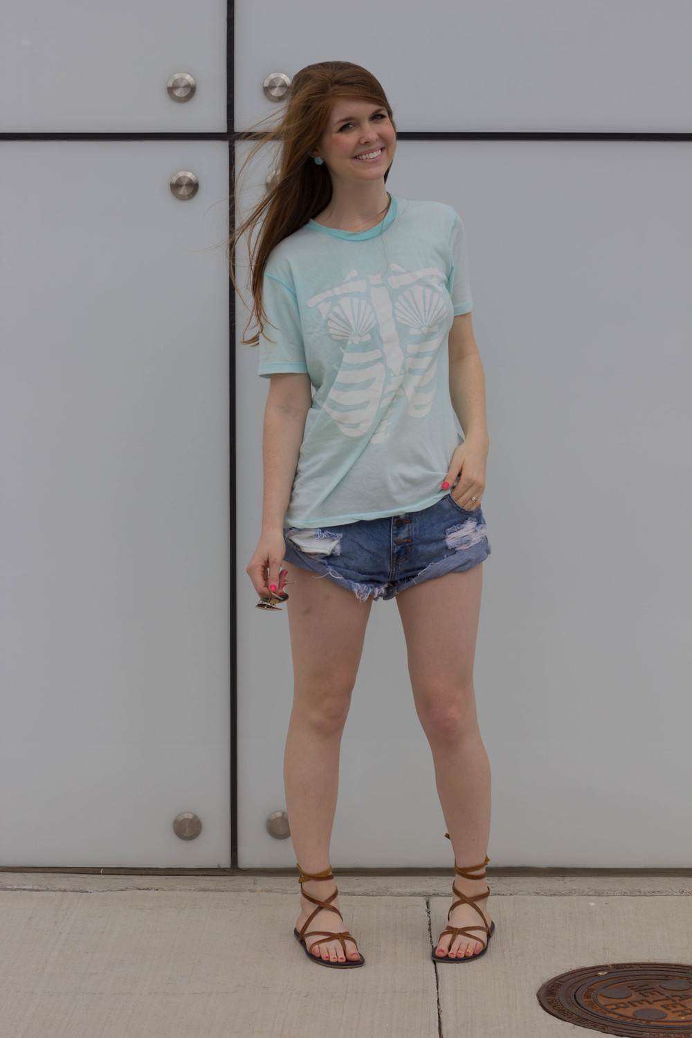 mermaid x-ray, wildfox vintage tee, shopriffraf, one teaspoon shorts