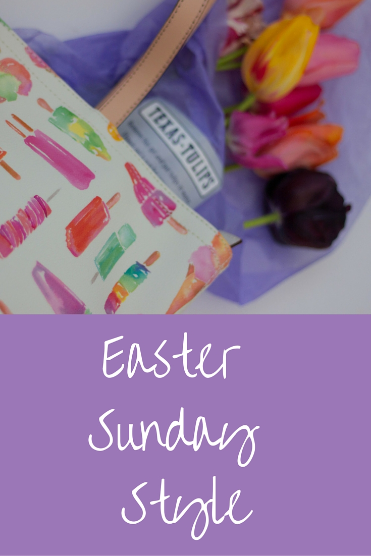 easter sunday style, kate spade, flavor of the month, texas tulips, dfw, dallas, u-pick farms