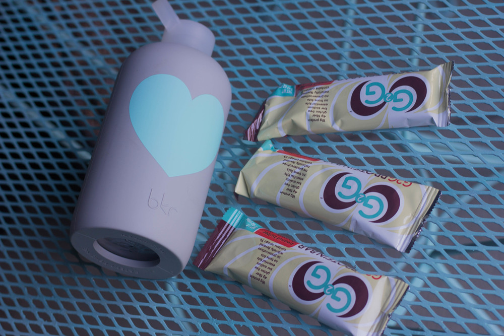 nike airmax 90, bkr heart liter water bottle, g2g protein bar, the best protein bar