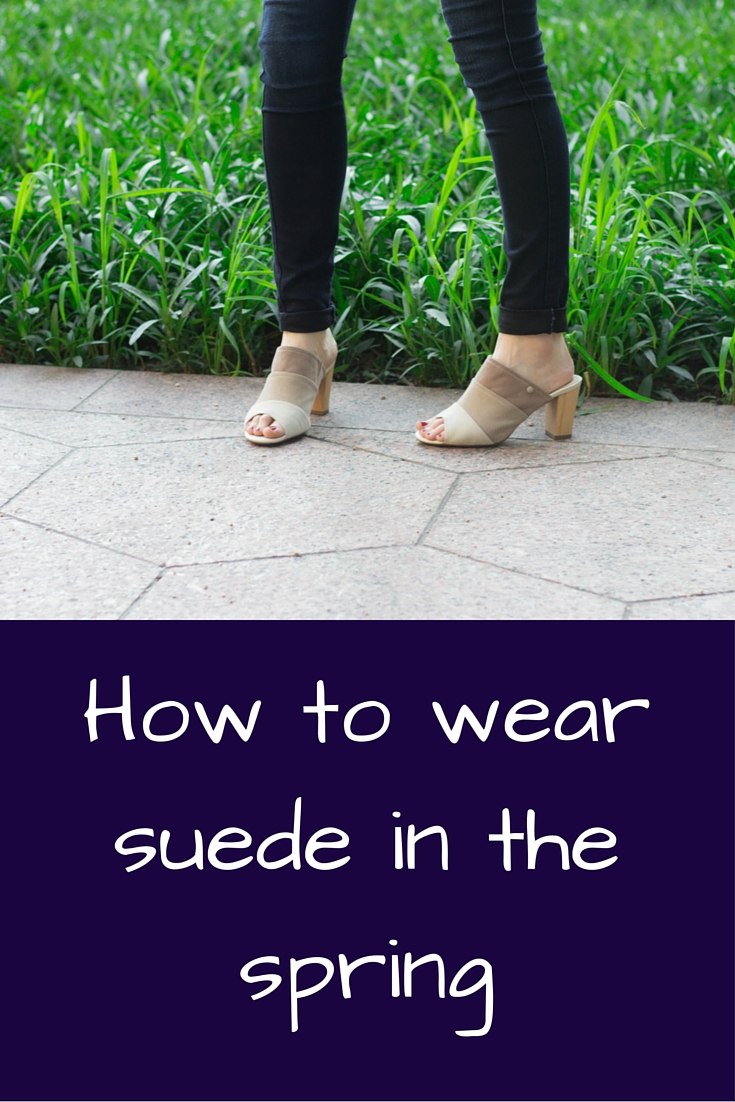 how to wear suede in the spring, hush puppies shoes mora malia mules, suede mules