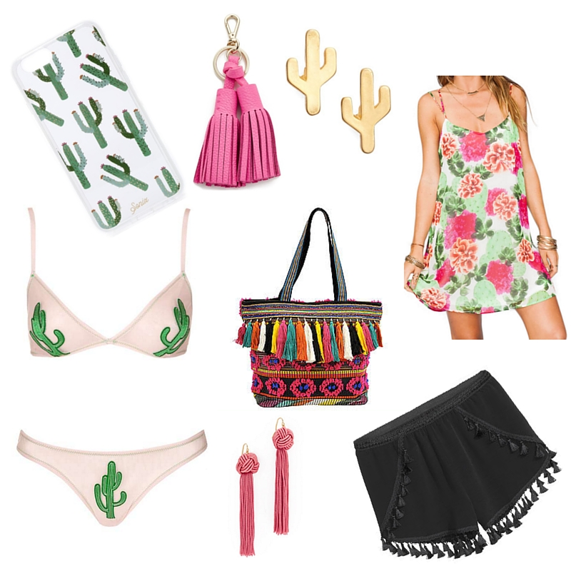 cactus and tassel trends, spring trends, shopbop, sonix cactus phone case, tassel shorts
