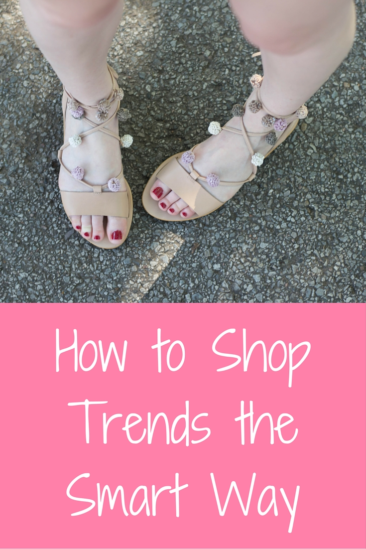 how to shop trends the smart way, pom pom lace up sandals, loeffler randall saskia sandal