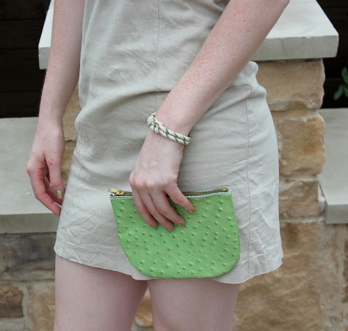 hatton henry designs, cactus clutch, houston, made in the usa, judith march khaki bow dress, poolside, mini pineapple