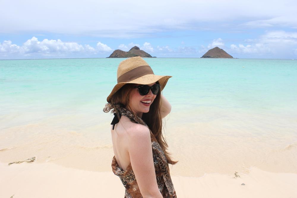 lanikai, north shore hawaii, oahu, diy no sew beach cover up