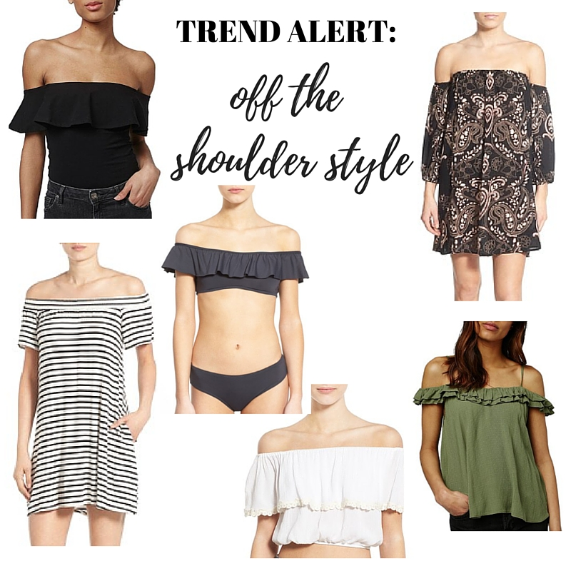 off she shoulder style, nordstrom, under $50, off the shoulder romper, dress, top