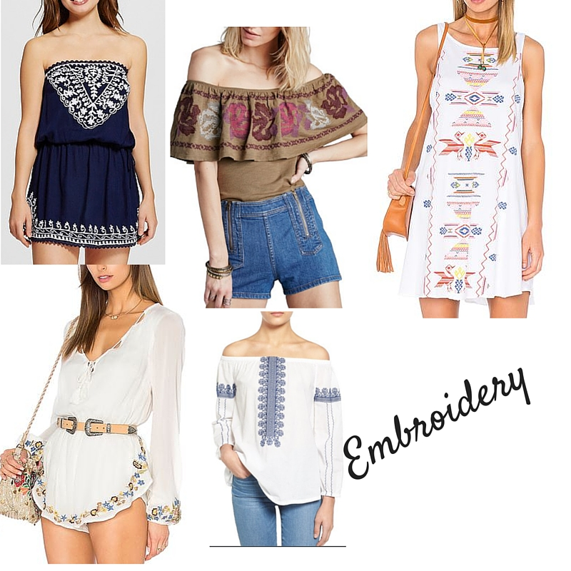 embroidery, summer style, fashion