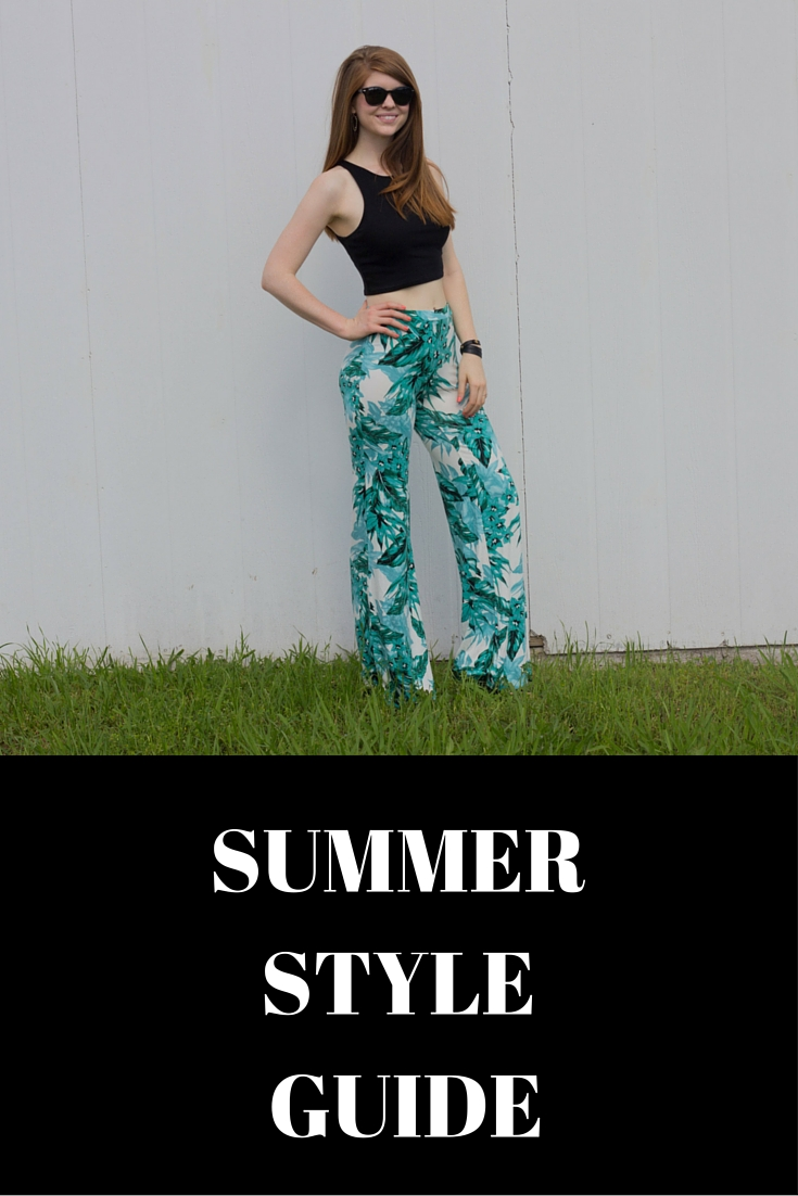 summer style guide, palm pants, le tote, trends