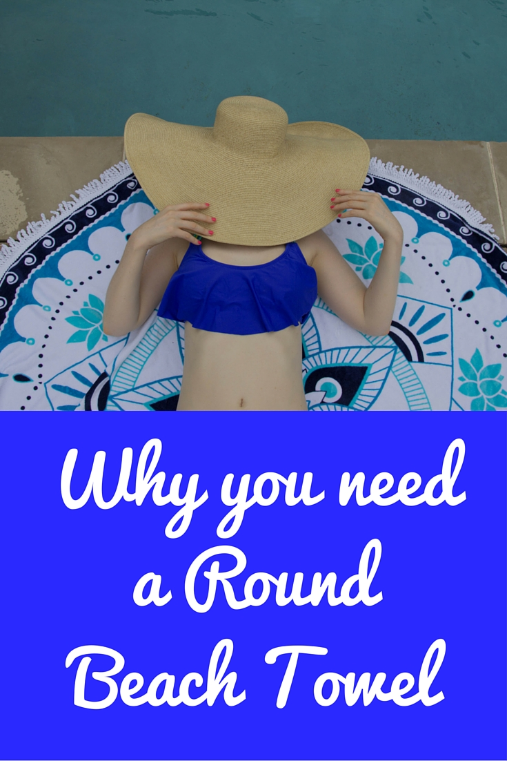 why you need a round beach towel, circle beach towel, epoch collective, australia, beach style, aqua lotus