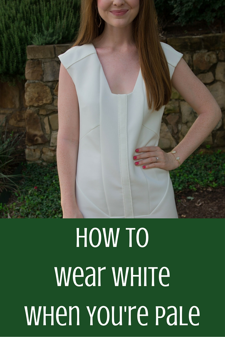 how to wear white when you're pale, pale skin problems,  lwd, cultro clothing, white, dumbo dress
