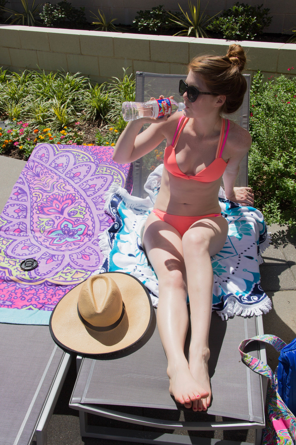 ozara, texas, for here by here, karen walker dupes, target bikini, pool day