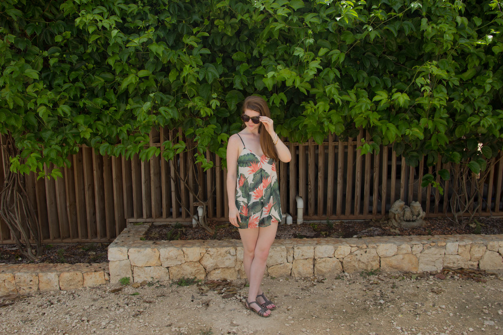 le soleil d'or, cayman brac, grand cayman islands, caribbean islands, vacation, farm, fresh, organic, show me your mumu, paradise found, romper, karen walker sunglasses