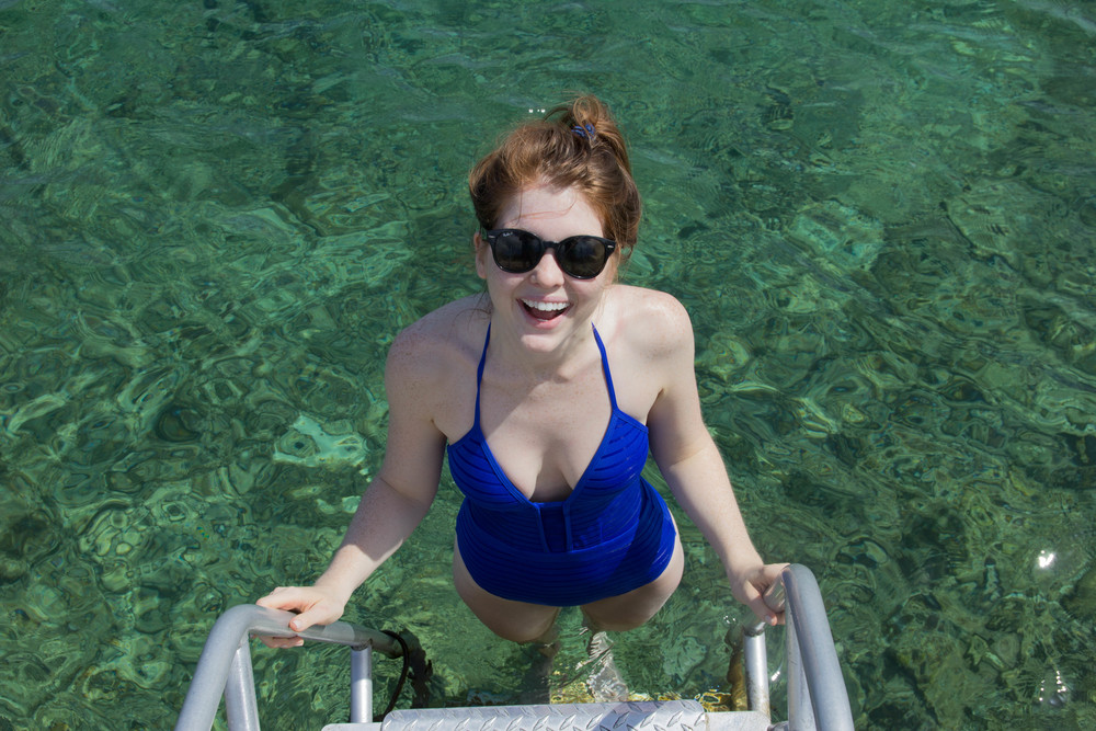 jets by jessika allen, parallels, royal blue one piece swimsuit, cayman brac, grand cayman islands, caribbean islands, bikini, snorkeling
