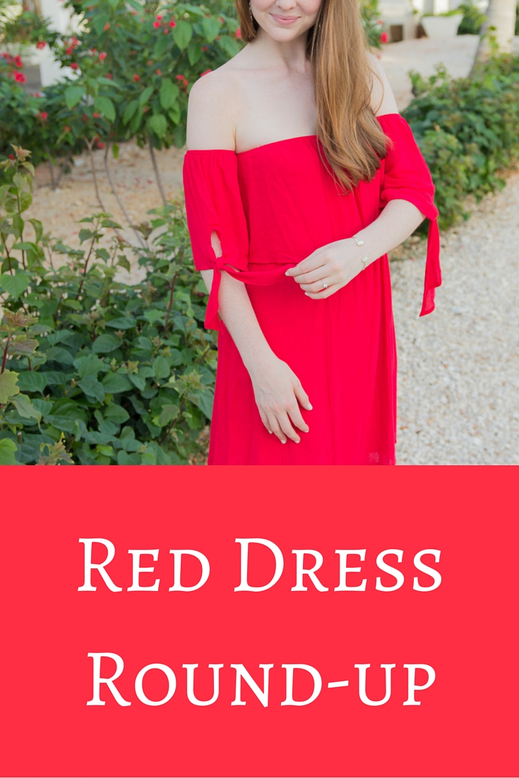 red dress round up, cayman brac, nordstrom, dee elle, red off the shoulder dress, le soleil d'or, cayman islands, nordstrom