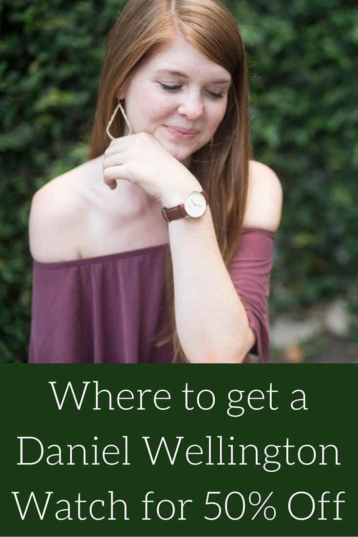 where to get a daniel wellington watch for 50% off, bp maroon off the shoulder cotton dress, seychelles waypoint booties, kendra scott sophee earrings, kendra scott druzy cuff, daniel wellington watch, jomashop, sarah kelly photography, dallas photography, arlington hall at lee park, nordstrom