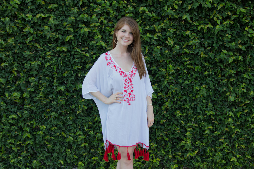 show me your mumu: mae mu with tassels - casa love embroidery, bc cougar wedge sandals, kendra scott sophee earrings, fiesta lingerie shower, mexican bridal shower, lingerie shower themes