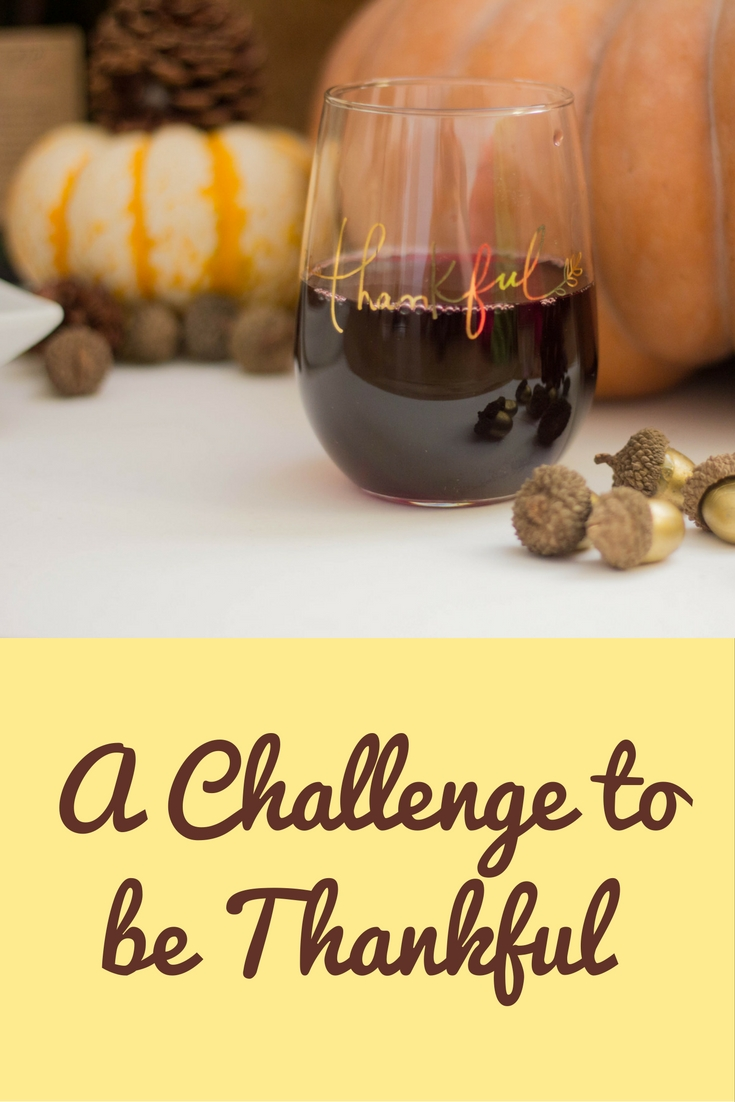 crate and barrel thankful collection, thankful stemless wineglass, fairytale pumpkins, trader joes, acorns, etsy acorns, pinecones, thanksgiving, sally's baking addiction, pumpkin chocolate chip bread, thankful, rewined spiked cider candle, a challenge to be thankful