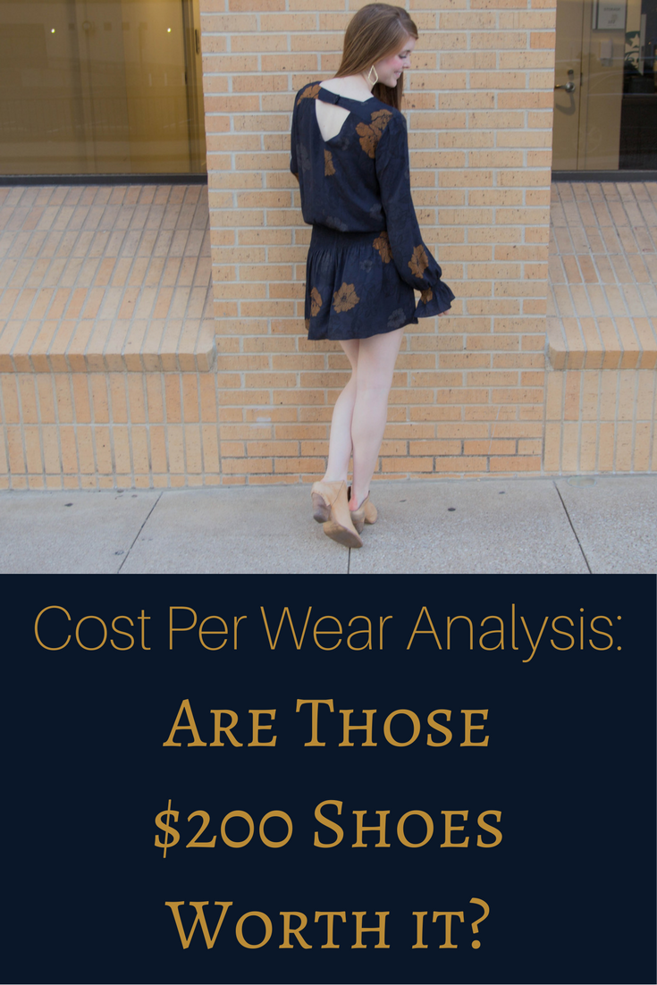 chelsea28 drop waist dress, navy floral, kendra scott sophee earrings, dolce vita haku booties, cost per wear analysis, are those $200 shoes worth it, cpw