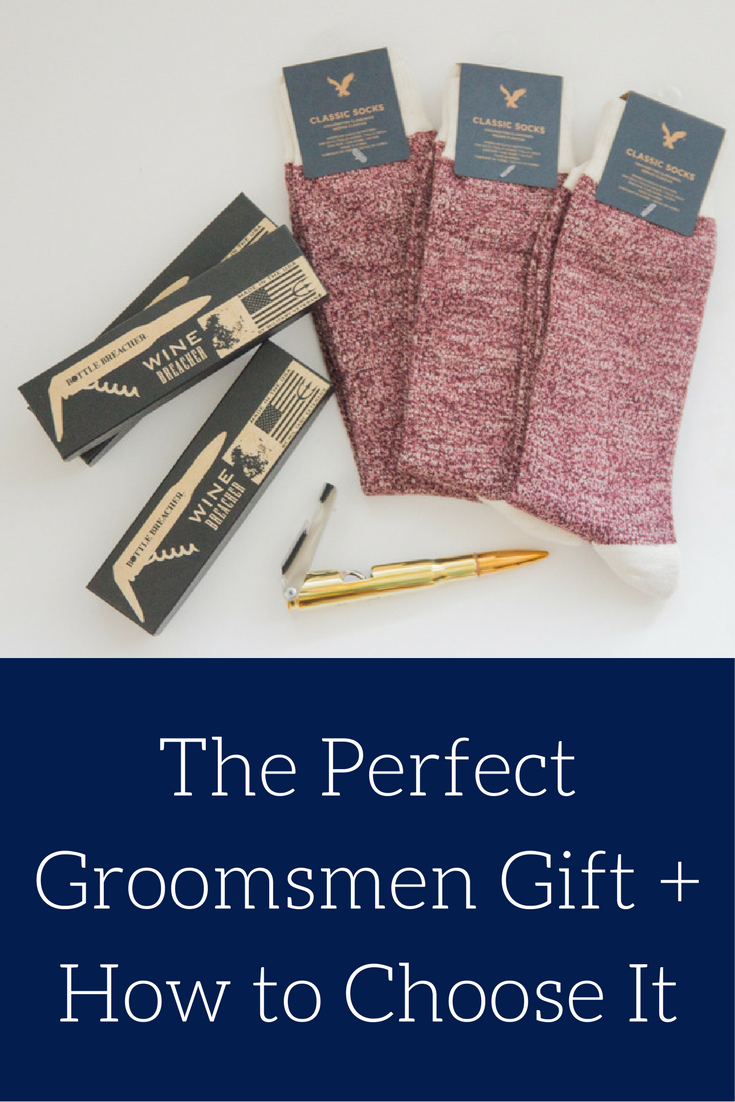 wine breacher, bottle breacher, shark tank, bullet bottle opener, socks, groomsmen gifts, what to give to your groomsmen, how to choose groomsmen gifts, unique groomsmen gift ideas