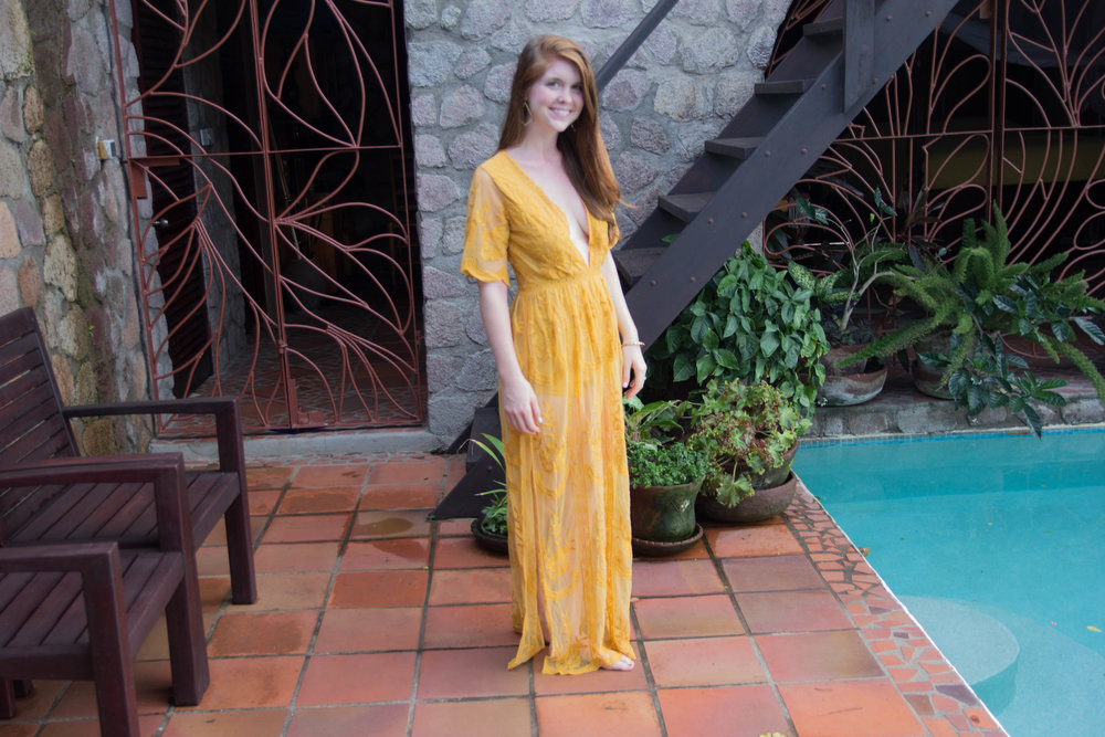 maxi skirt romper, maxi skort romper, maxi skirt overlay, lace, honey punch, saint lucia, villa piton castle, honeymoon