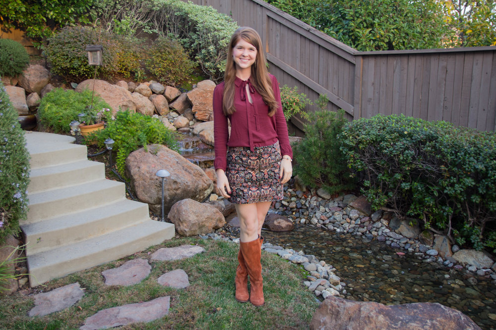printed velvet, american eagle, velvet burnout, hush puppies suede boots